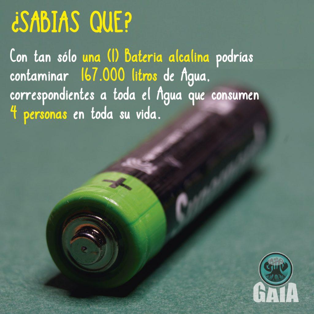 Pilas Fuentes De Energía Y Contaminación Gaia Tierra Viva